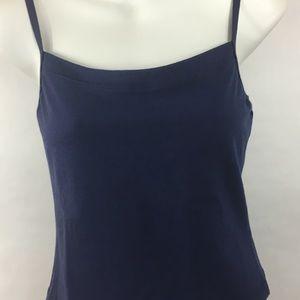a851f635978126 Capezio Tops - Capezio camisole cami top bra lined navy cotton XL